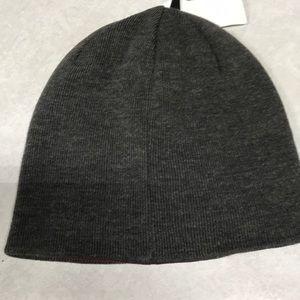 5390243e6b8 Calvin Klein Accessories - Calvin Klein beanie embossed hat. Grey w   burgundy